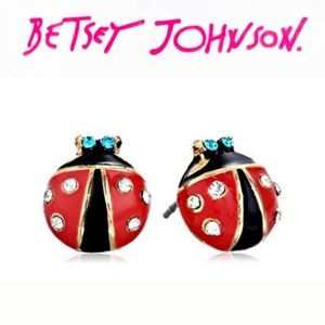 Betsey Johnson Lady Bugs Earrings